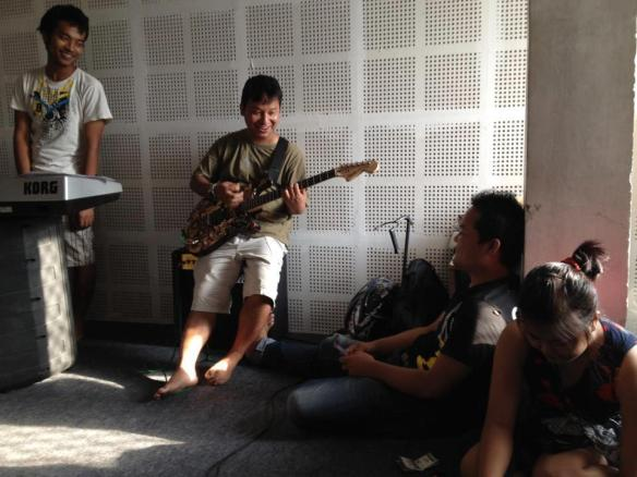 Jamming Oct., 2012 Before Gauhati (Hmar) Rock Concert :D