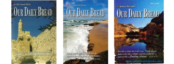 Cover of the book 'Our Daily Bread' - 2013, 2012 & 2011